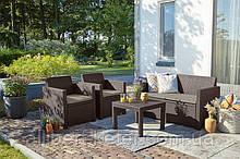 Набор садовой мебели Alabama Set Brown ( коричневый ) из искусственного ротанга ( Allibert by Keter )