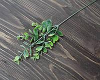 Ветка-дополнитель эвкалипт. зеленый с белым