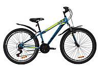 """Велосипед горный 26"""" Discovery TREK AM V-BR 2020 (малахитовый с желтым (м))"""