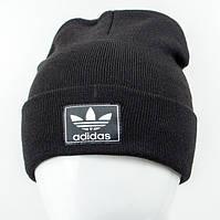 Молодежная шапка Рожки Adidas (реплика) черный