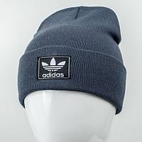 Молодежная шапка Рожки Adidas (реплика) джинс