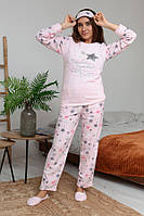 Красивая теплая пижама Турция, розовая, фото 1