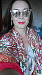 Лидия 1758-5, павлопосадский платок (шаль) хлопковый (саржа) с подрубкой, фото 6