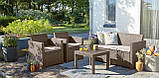 Набір садових меблів Alabama Set Cappuccino ( капучіно ) з штучного ротанга ( Allibert by Keter ), фото 5