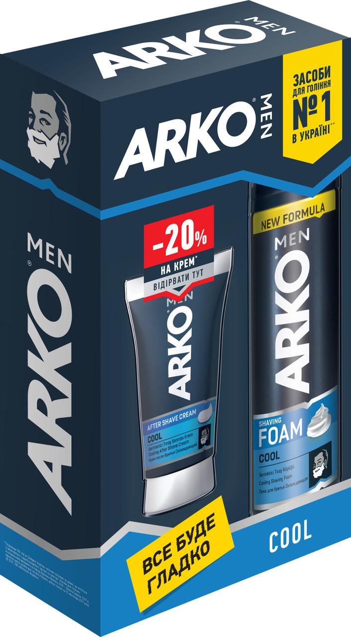 Подарунковий набір Арко Cool (Піна для гоління + Крем після гоління)