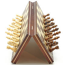 Магнитные Шахматы / Шашки / Нарды - Набор 3в1, дерево, доска 29х29 см., фото 3