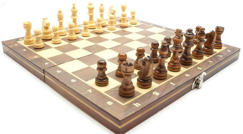 Магнитные Шахматы / Шашки / Нарды - Набор 3в1, дерево, доска 29х29 см., фото 2
