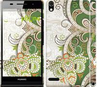 """Чехол на Huawei Ascend P6 Узор v9 """"1843c-39"""""""