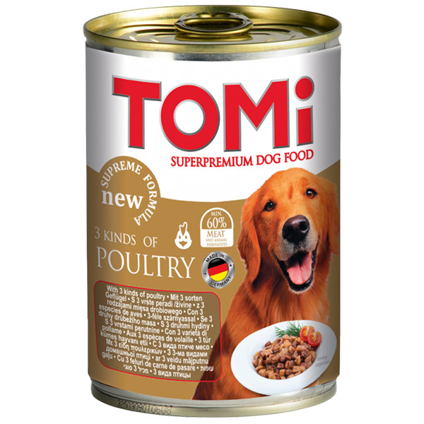 Консервы для собак 3 вида птицы Томи TOMi 3 kinds of poultry 400 г