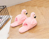Домашние тапочки кигуруми Фламинго розовые (без задника) L (Размер 38-43)