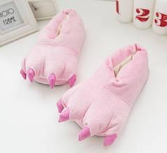 Тапочки Кигуруми Лапы Розовые  L (размер 38-43)