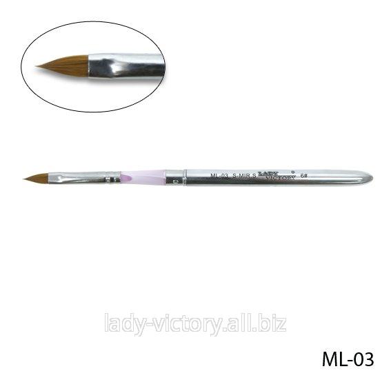 Натуральная кисть для акрила № 6. ML-03