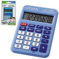 Калькулятор Citizen карманный LC-110NRBL голубой 87х58мм, 8 разрядов