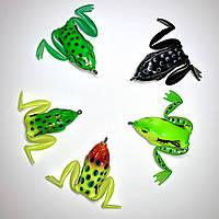 """Лягушка незацепляйка с лапками """"SUPER FROG"""" - 5 расцветок, вес 12 г, длина 5.5 см"""