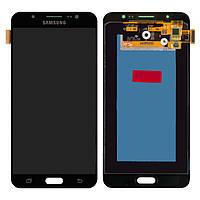 Дисплей Samsung J710 Galaxy J7 (2016), черный, с сенсорным экраном, Original (PRC), original glass