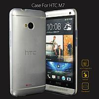 Чехол силиконовый ультратонкий Epik для HTC One M7 801e прозрачный