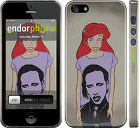 "Чехол на iPhone 5 Marilyn Manson ""815c-18"""