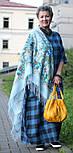 Лариса 322-8, павлопосадский платок шерстяной (с просновками) с шелковой бахромой, фото 4