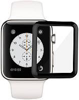 Защитное стекло Armor Apple Watch 1/2/3 Full Glue Tempered Glass 38 mm Black, фото 1