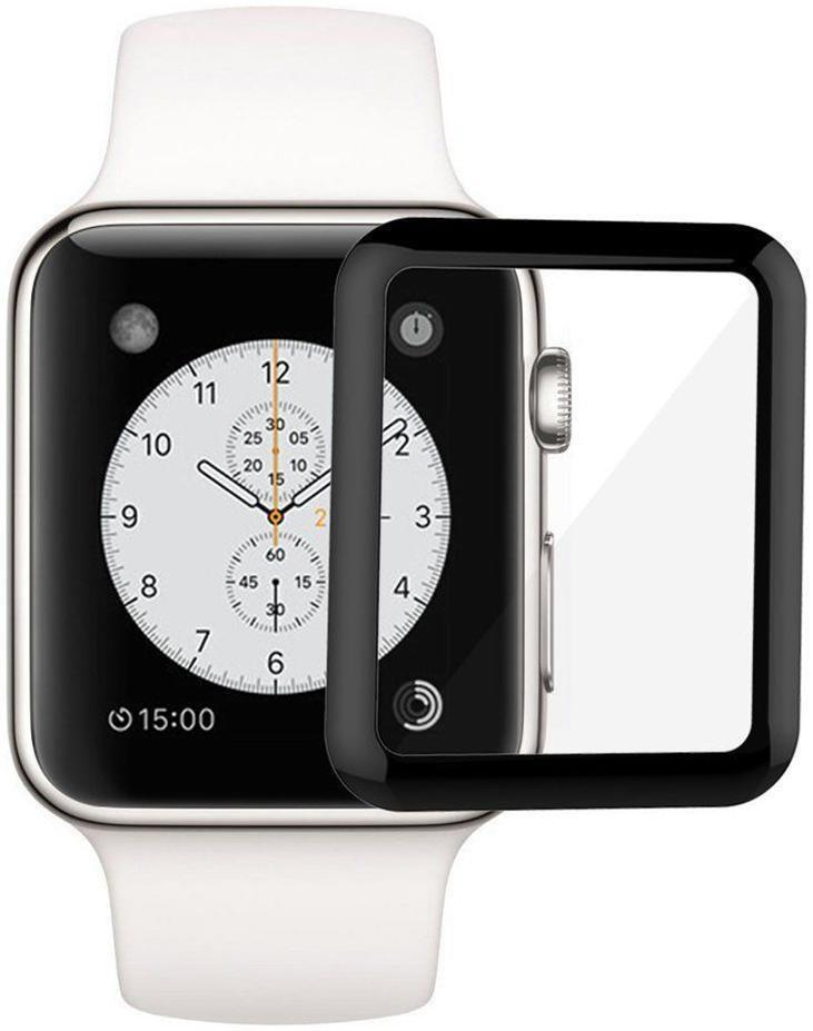 Защитное стекло Armor Apple Watch 1/2/3 Full Glue Tempered Glass 38 mm Black