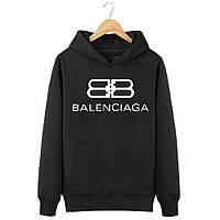 Теплое худи (на флисе) Balenciaga худі чоловіча, толстовка баленсиага