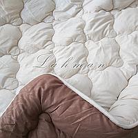 Одеяло двуспальное 175х215 см.| Тепла ковдра, наповнювач холлофайбер | Одеяло стёганное теплое на холлофайбере