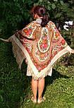 Любава 1289-1, павлопосадский платок шерстяной  с шерстяной бахромой, фото 9