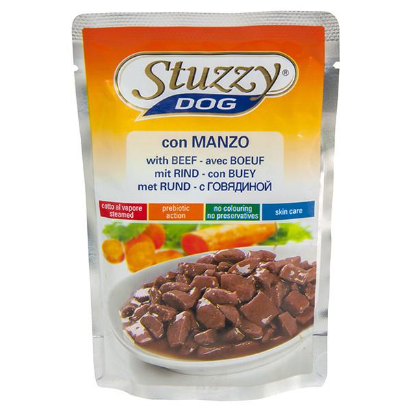 Влажный корм для собак с говядиной в соусе Штузи Stuzzy Dog Beef 100 г