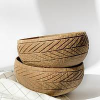 Набор резные кокосовые чаши, объём 1000 мл, 2 шт, Coconut Home