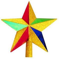 Верхівка-зірка ялинкова, пластик, 20см, B01461