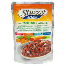 Влажный корм для собак с индейкой и морковью в соусе Штузи Stuzzy Dog Turkey Carrot 100 г