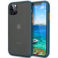 "TPU чехол LikGus Maxshield для Apple iPhone 11 Pro (5.8""), цвет Сине-Зеленый / Marine Blue"