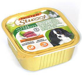 Паштет для собак з телятиною і морквою Штузи Mister Stuzzy Dog Veal Carrot 150 г