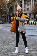 Двухсторонняя теплая женская куртка плащевка