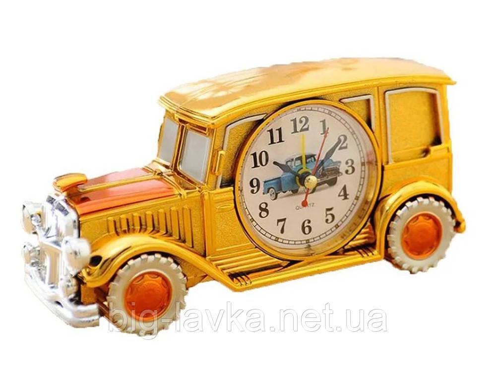 Часы ретро автомобиля Clock  Желтый