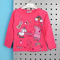 Кофта з малюнком для дівчинки Пеппа Рожева тм HACALI розмір 1-2 роки, фото 1