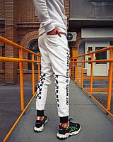 Теплые спортивные штаны Off White Abloh белые