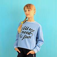 Кофта для девочки двухнитка тм GLO-STORY размер 110,120,130,140