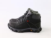 Зимние серые кожаные ботиночки