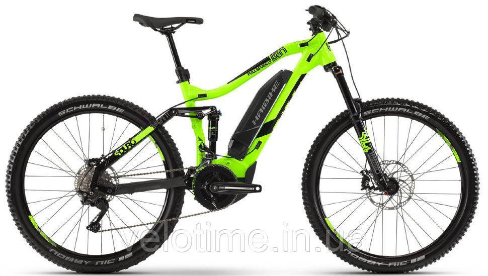 Haibike SDURO FullSeven LT 4.0 27.5 500Wh 2019 (M, зеленый-черный-серый)