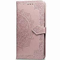 Кожаный чехол (книжка) Art Case с визитницей для Xiaomi Mi CC9 / Mi 9 Lite, цвет Розовый
