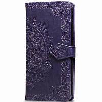 Кожаный чехол (книжка) Art Case с визитницей для Xiaomi Mi A3 (CC9e), цвет Фиолетовый