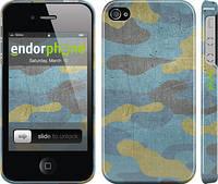 """Чехол на iPhone 4 Металлический камуфляж """"1227c-15"""""""