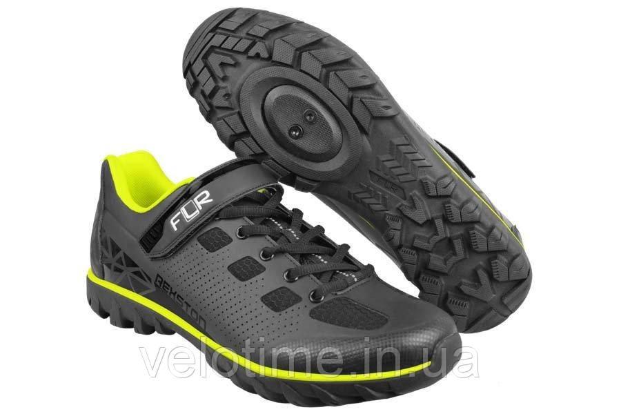 Велосипедные туфли фитнес FLR Rexston  (43р., черный-желтый)