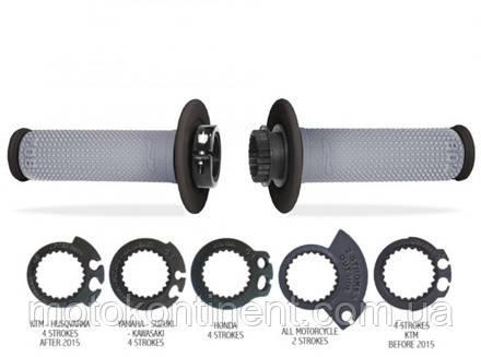 Мото грипсы для кроссовых иэндуро мотоциклов с переходниками газа Pro Grip 708 SCS  PA070800NEGR