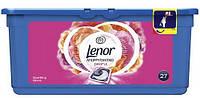 Капсулы для стирки универсальные Lenor 3-в-1 Sparkling Bloom, 27 шт.