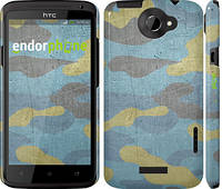 "Чехол на HTC One X+ Металлический камуфляж ""1227c-69"""