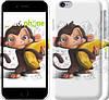 """Чехол на iPhone 6 Мартышка с бананом """"1245c-45"""""""