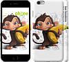 """Чехол на iPhone 6 Plus Мартышка с бананом """"1245c-48"""""""