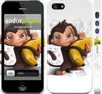 """Чехол на iPhone 5 Мартышка с бананом """"1245c-18"""""""